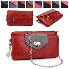 Womens Fashion Smart-Phone Wallet Case Cover & Crossbody Purse EI65-9