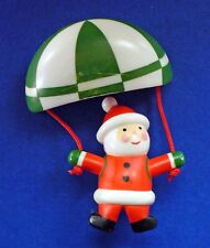 BUY1&GET1@50%~Avon PIN Christmas SANTA Away SKY DIVING Parachute Vtg Brooch