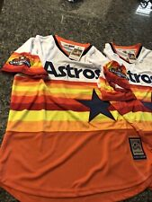 Majestic Cooperstown MLB Houston ASTROS CORREA & ALTUVE Throwback Jersey L, NWT