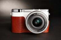 Handmade Genuine real Leather Half Camera Case bag cover for Samsung NX3000