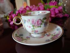 Haviland PARISIANA GOLD trim demitasse cups and saucers Limoge China