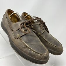 Cole Haan Mens Gray leather Slip On Casual Loafers Boat Shoes Size 11 M G