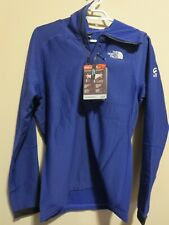 Mens New North Face Summit L2 Fuseform Fleece 1/2 Zip Hoodie Jacket Small Blue
