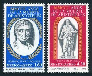 Mexico C579-C580 blocks/4,MNH.Michel 1603-1604. Aristotle,Philosopher,1978.