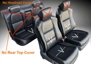 For 04 Acura TL Seat Cover Replacements Upholstery Perforated PU Leather