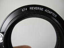PENTAX ASAHI 6x7 CAMERA LENS REVERSE RING ADAPTER 67mm EXCELLENT CONDITION PERFT