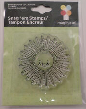 Imaginisce Happy Flower or Sun Clear Cling Rubber Stamp