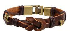 Men's High Quality Wrap Bangle Vintage Leather Brown Rope Bracelet  2021 Design