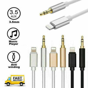 For Apple iPhone Lightn to 3.5mm AUX Headphone Jack Audio Speaker Cable