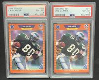 1990 Pro Set Football #134 Cris Carter Rookie PSA 8 HOF Eagles RC 1 card