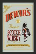 Dewars finest Scotch Whisky Nostalgie Barspiegel Spiegel Bar Mirror 22 x 32 cm