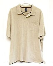 Mens Polo Golf Shirt Size XL X-Large 46-48 Beige Tan Short Sleeve by George