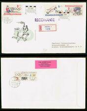 Mayfairstamps Czechoslovakia 1984 Olympics Registered Praha to Germany Cover wwp