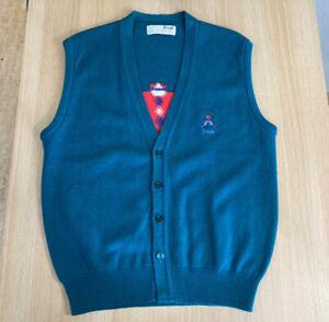 Nick Faldo Pringle Golf Vest M Green Pure New Wool Vintage