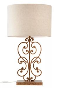 Slim Antique Brass Twirl Lamp Base - 50% Off