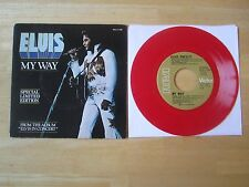 Elvis 45rpm record & Picture Sleeve,  My Way/America, Limited Edition Red vinyl