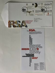 GB First Day Cover + Insert. 10.8.2004. Royal Society of Arts. RSA