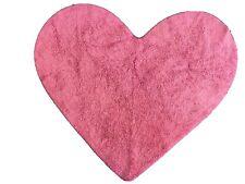 NEXT Heart Shaped Dusky Pink Bedroom Playroom Cotton Rug (75cm x 90 cm)
