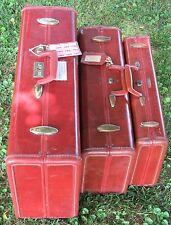 ~Vintage Samsonite Luggage Shwayder Brothers Brown Suitcases and Briefcase~