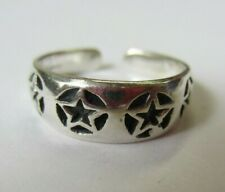Ring Star Design Oxidized Jewelry Solid 925 Sterling Silver Adjustable Toe