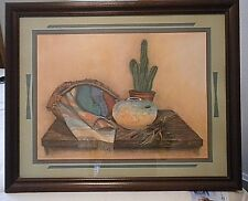 """VINTAGE (1980s) Southwestern Picture  31""""x 25"""" x 1""""- by  Home Interiors"""