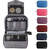Womens Portable Travel Cosmetic Makeup Bag Case Toiletry Organizer Hanging Pouch