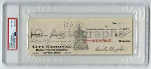 Orville Wright - Historic Aviator - Autographed Check 1929 PSA/DNA Slabbed