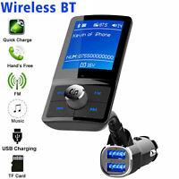 Transmetteur FM Bluetooth voiture Kit adaptateur radio MP3 Chargeur USB QC3.0