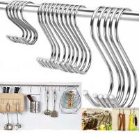 5pcs Per Pack S Shaped Hooks Stainless Steel Metal Hangers Hanging Hooks New