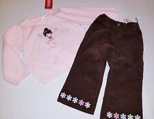 Gymboree outfit 18-24 girl Pink Sweater Brown  pants Snowflake Winter Ballerina