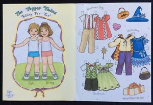 The Topper Twins Paper Doll by Diana Vining, Mag. PD. 2008