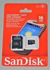 Sandisk micro SDHC Memory Card Class 4 16GB Flash SDHC With Adapter New