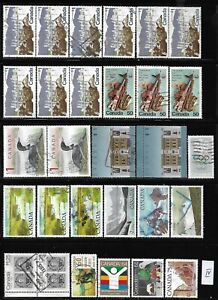 Canada lot of high value used stamps off paper see photo #4