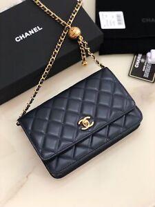 Pre-owned Authentic Women Black Chanel Shoulder Bag Handbag 19*12*5 cm