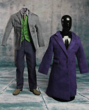 IN STOCK 1/6 Joker Heath Ledger Costume Suit Set For DX01 DX11 Hot Toys
