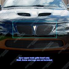 Fits 2004-2006 Pontiac GTO Black Main Upper Billet Grille Grill Insert