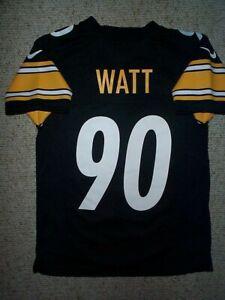 (2021-2022) NIKE Steelers TJ WATT nfl Jersey YOUTH KIDS BOYS (s-sm-small)