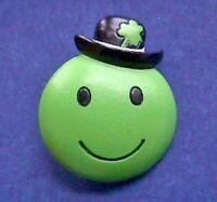 Hallmark PIN St Patrick Vintage HAPPY Smiley FACE Irish Holiday Brooch