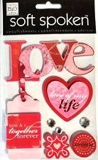 Soft Spoken Dimensional Stickers - LOVE - Together Forever Life Valentines 394