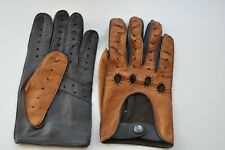 Mens  Leather Classic Driving Gloves Brown