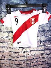 Peru Youth Soccer Jersey  Size 0 Toddler Youth Kids Red White Guerrero Rare⚽️🔥