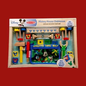 New Melissa and Doug Disney Mickey Deluxe Wooden Tool Set with Belt 26 Pieces
