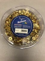 Vintage Bucket of Gold Buttons by Hirschberg Schutz 5.5 Mixed Variety
