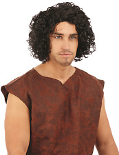 Mens Snow King Medieval Throne Game Halloween Fancy Dress Costume Wig Accessory