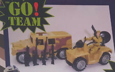 Army Military The Go Team Toy Jeep & Hummer Adventure Play Set 8 Pcs Ranger NEW