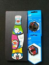 2020 Tokyo Olympic Games 5 Pin Coca Cola Doraemon Bottle Puzzle + 2 EF Collector