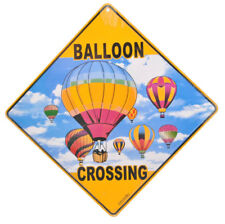 NEW Hot Air Balloon in Sky Crossing Road Sign