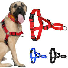 Stop Pulling Nylon Easy Control Dog Harness No Choke for Large Dogs Pitbull S-XL