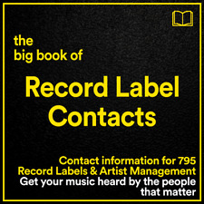 The BIG BOOK of Record Label Contacts // 795 Labels, A&R and Management Details