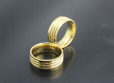 Jewelry Job lots 30pcs stainless steel Gold Plated Shine Wedding Party Top ring